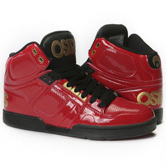 Osiris NYC 83 Men's Skateboard Shoes - Red/Gold/Black