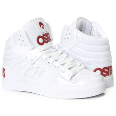 Osiris Clone Women's Skateboard Shoes - White/Red