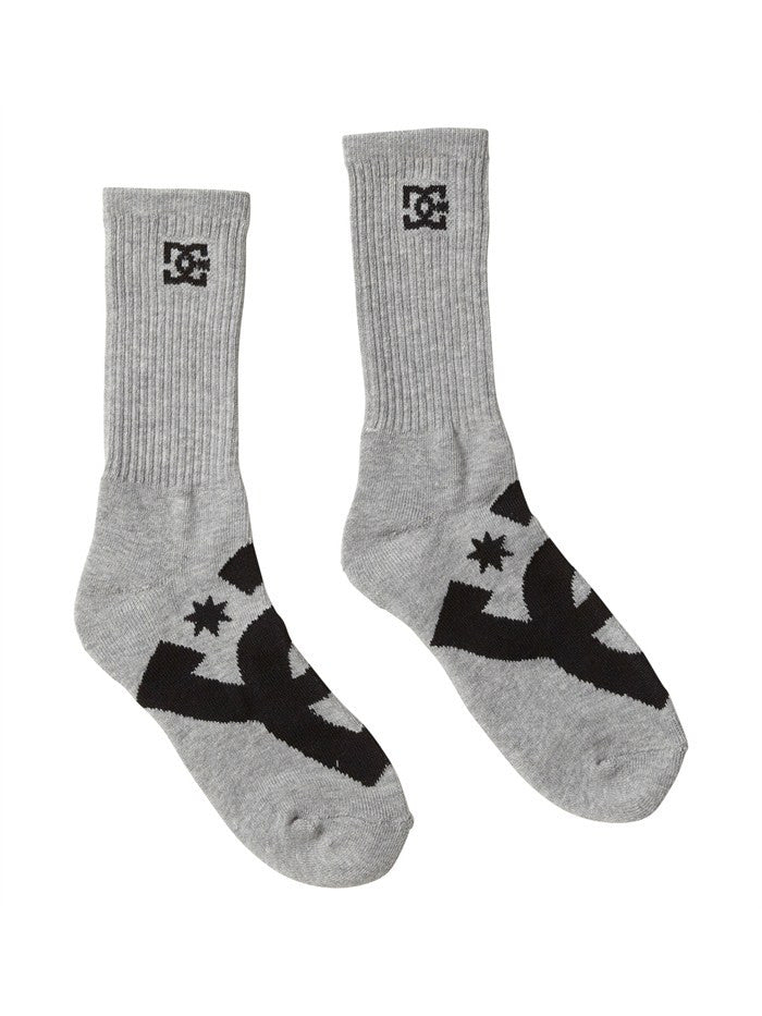 DC Willis Crew Socks - Heather Grey - Men's Sock (3 Pairs)