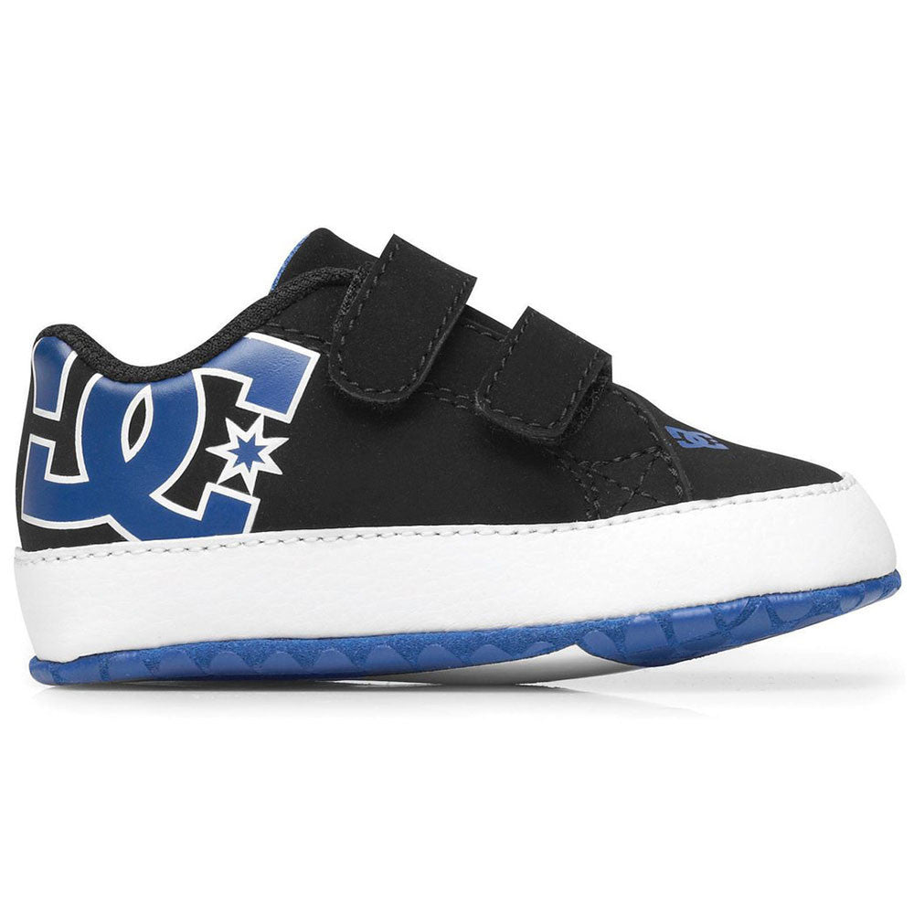 DC Court Graffik Baby's Skateboard Shoes - Black/White/Royal BWR