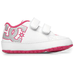 DC Court Graffik Baby's Skateboard Shoes - White/Pink WPN
