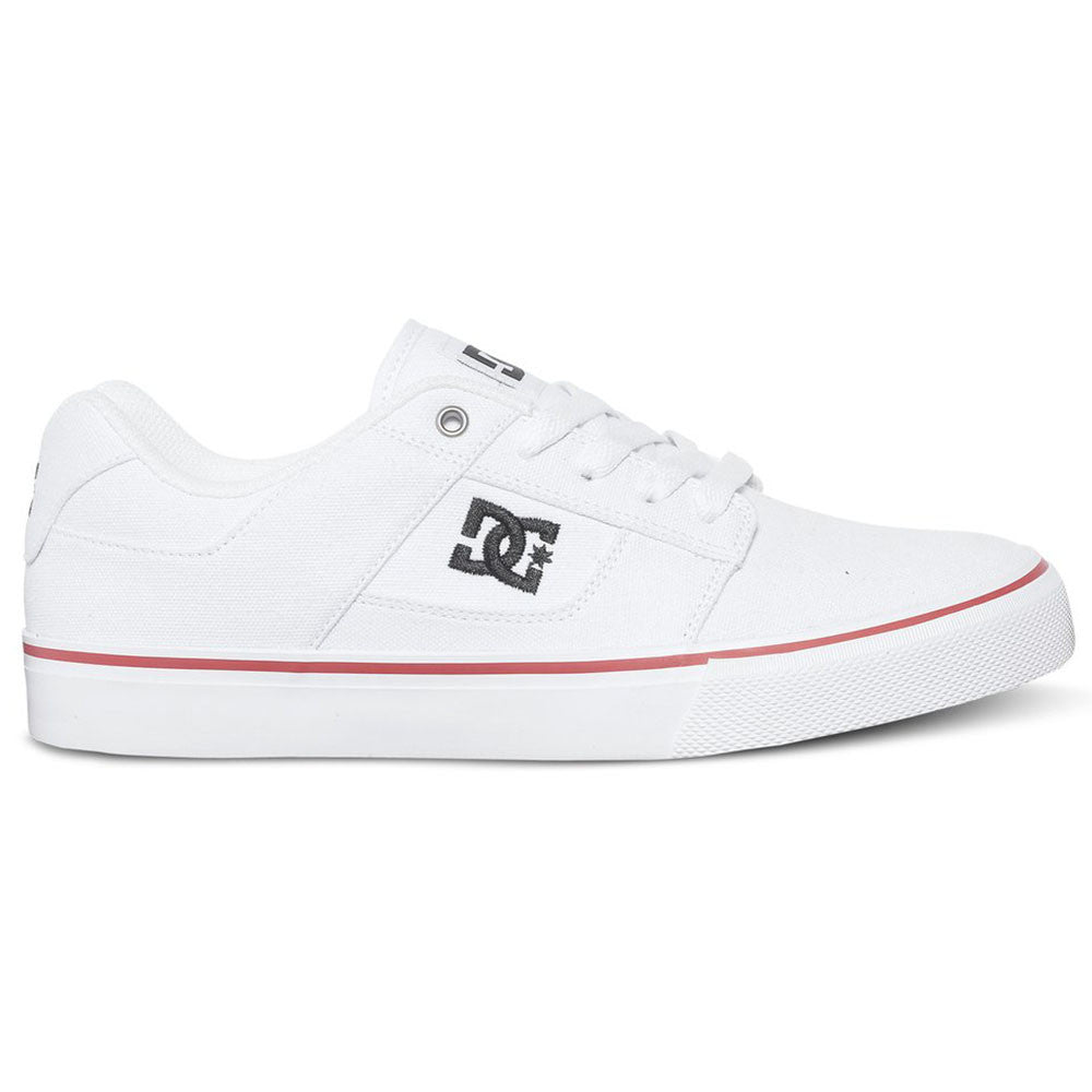 DC Bridge TX Men's Skateboard Shoes - White/Royal/Athletic Red HRA