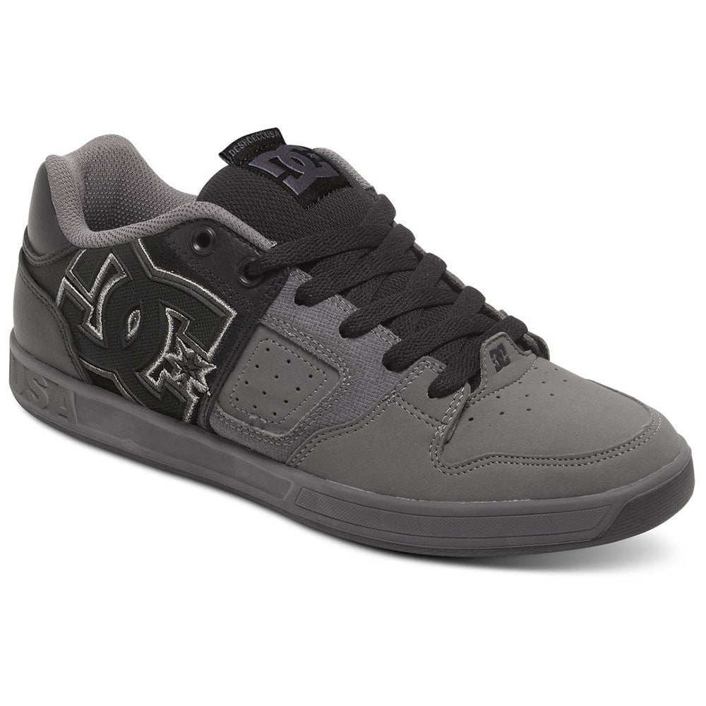 DC Sceptor Men's Skateboard Shoes - Black/Black/Grey XKKS