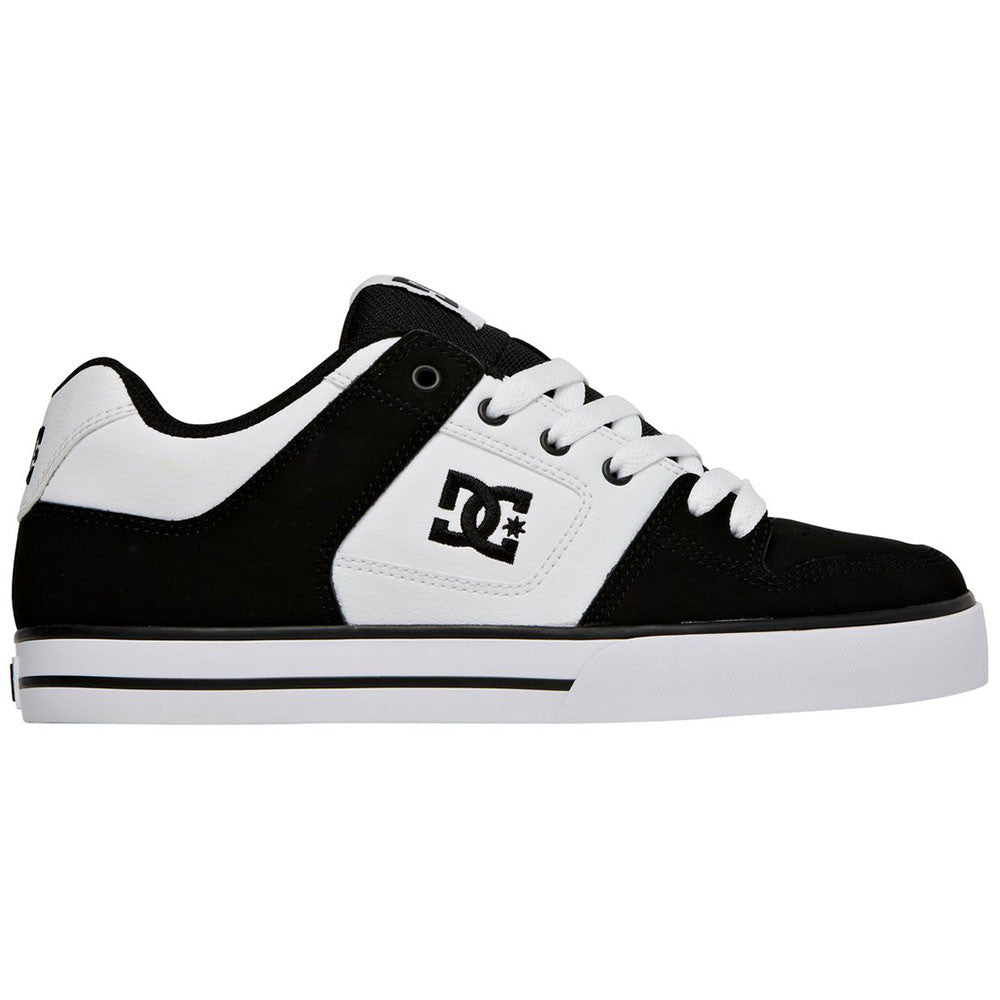 DC Pure Men's Skateboard Shoes - Black/Black/White XKKW