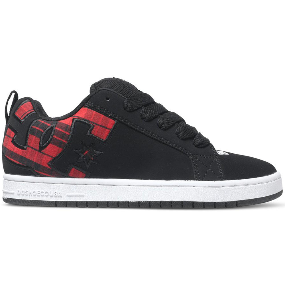 DC Court Graffik S Men's Skateboard Shoes - Black Plaid BPA