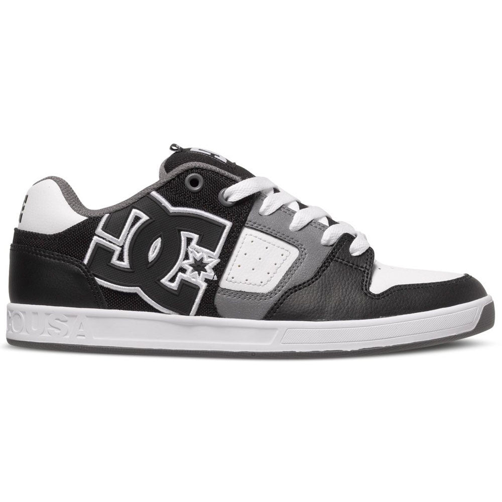 DC Sceptor Men's Skateboard Shoes - Black/White/Grey XKWS