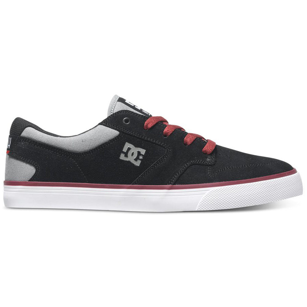 DC Nyjah Vulc Men's Skateboard Shoes - Black/Grey/Red XKSR