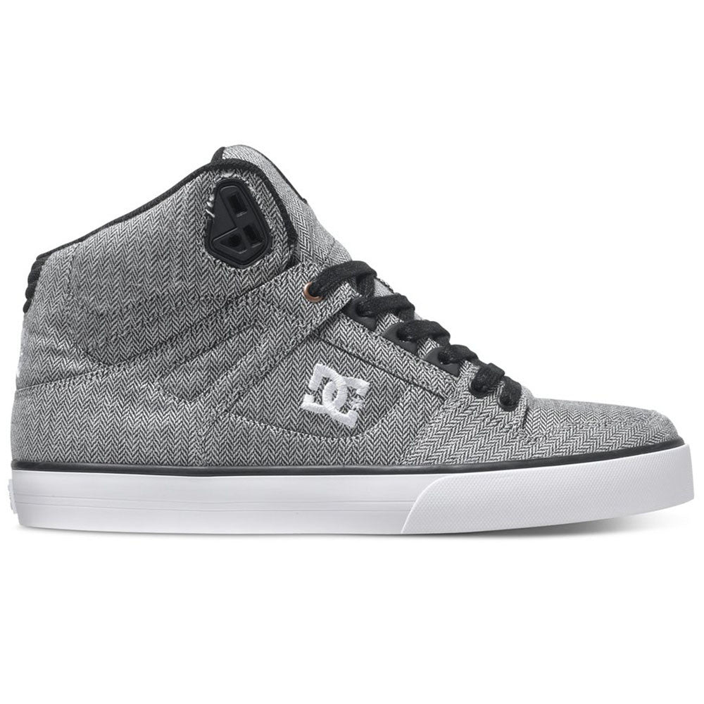 DC Spartan WC TX SE High-Top Men's Skateboard Shoes - Grey/Grey/Black XSSK