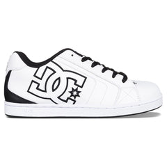 DC Net Men's Skateboard Shoes - White/Black WK3