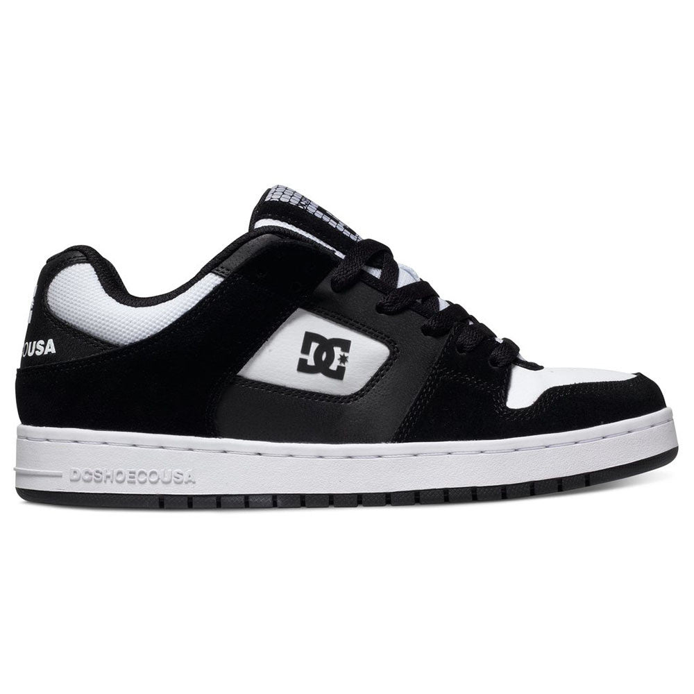 DC Manteca Men's Skateboard Shoes - Black/White BKW