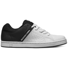DC Wage Men's Skateboard Shoes - Black/White BKW