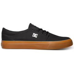DC Trase TX Men's Skateboard Shoes - Black w/ Gum BGM
