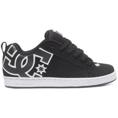 DC Court Graffik Women's Skateboard Shoes - Black/Black/White XKKW