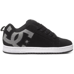 DC Court Graffik S Men's Skateboard Shoes - Black Dark Used BKZ