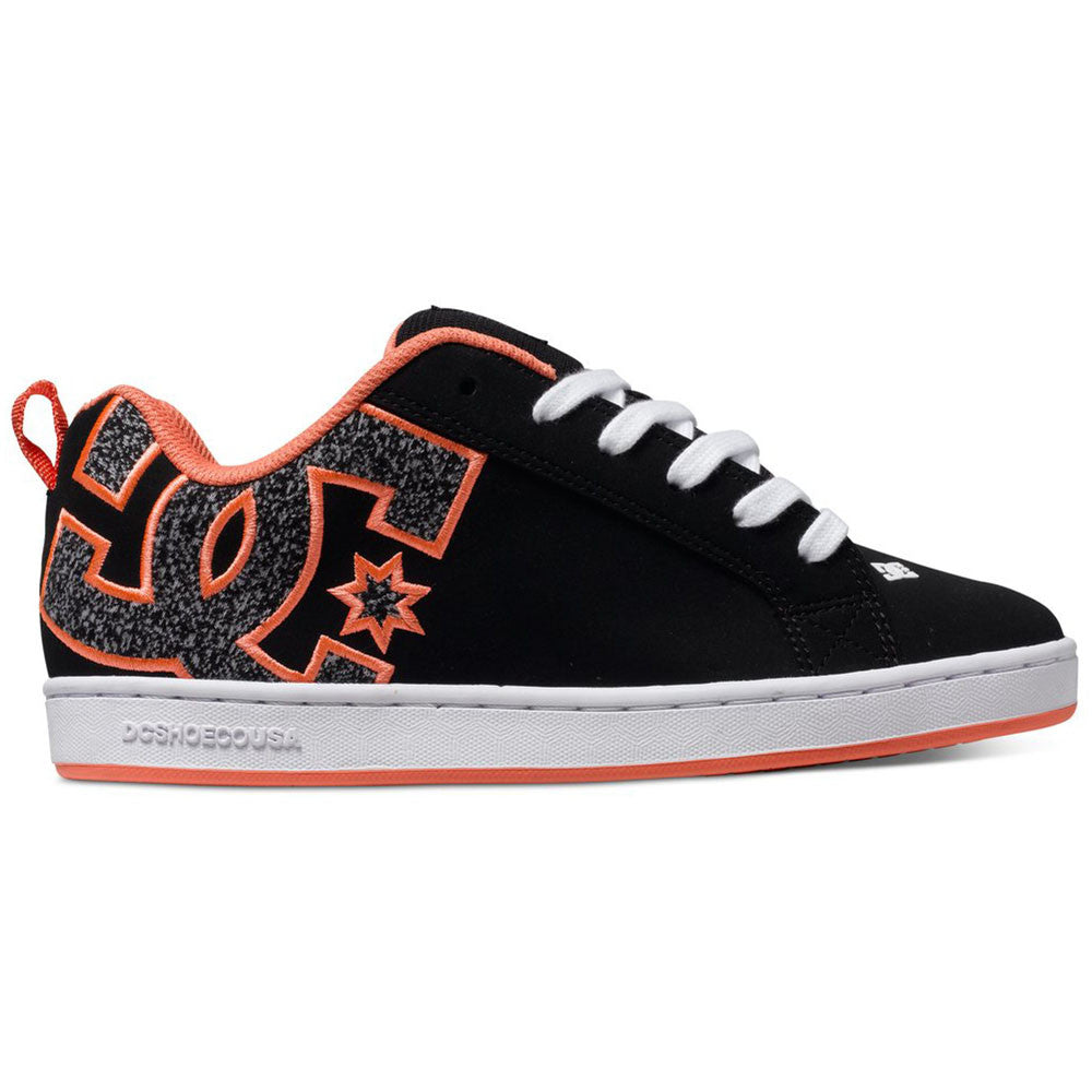 DC Court Graffik S Women's Skateboard Shoes - Black Rinse KRS