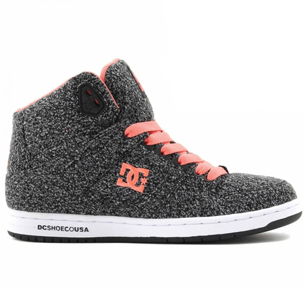 DC Rebound High TX Women's Skateboard Shoes - Black/White/Black BWB