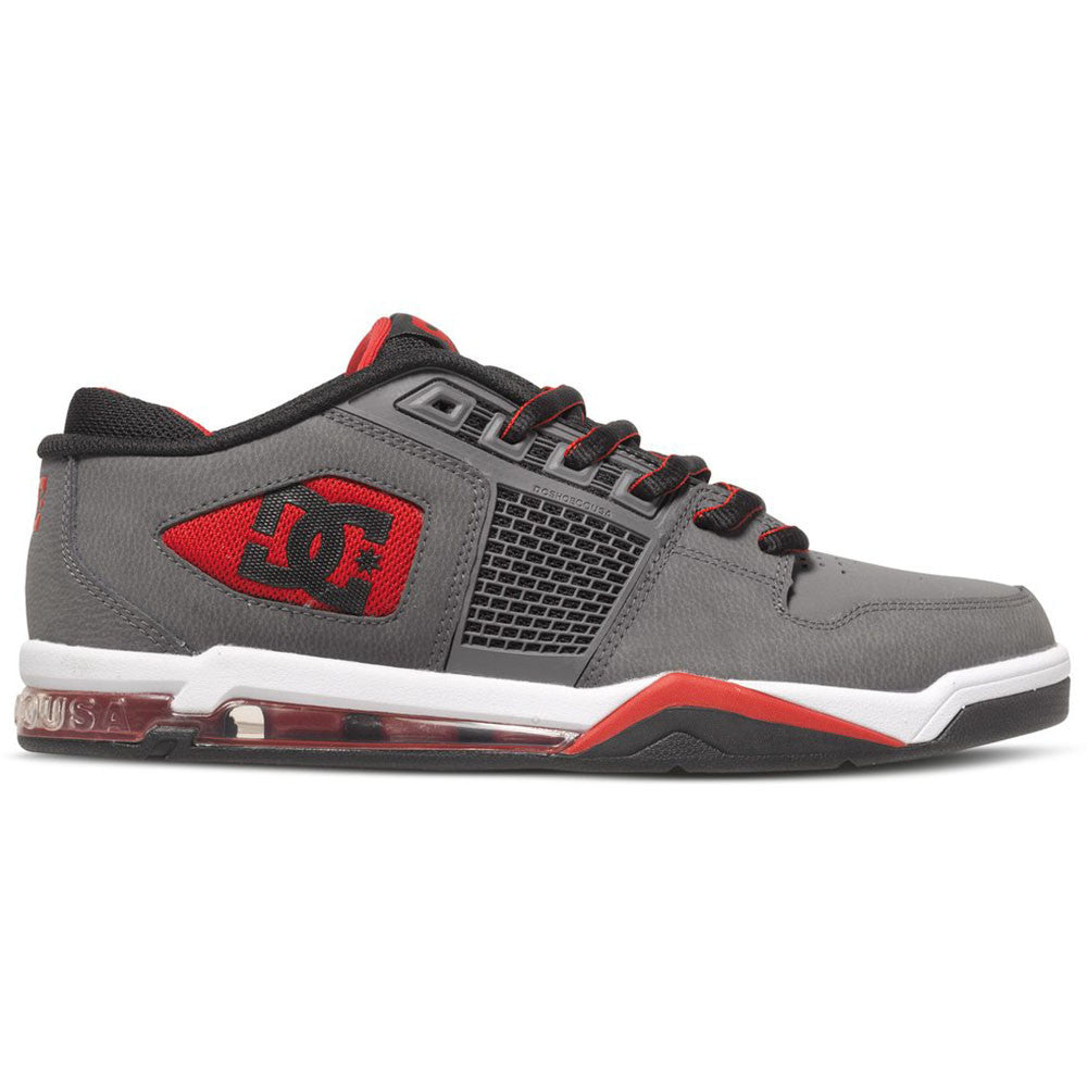 DC Ryan Villopoto Men's Skateboard Shoes - Grey/Black/Red XSKR