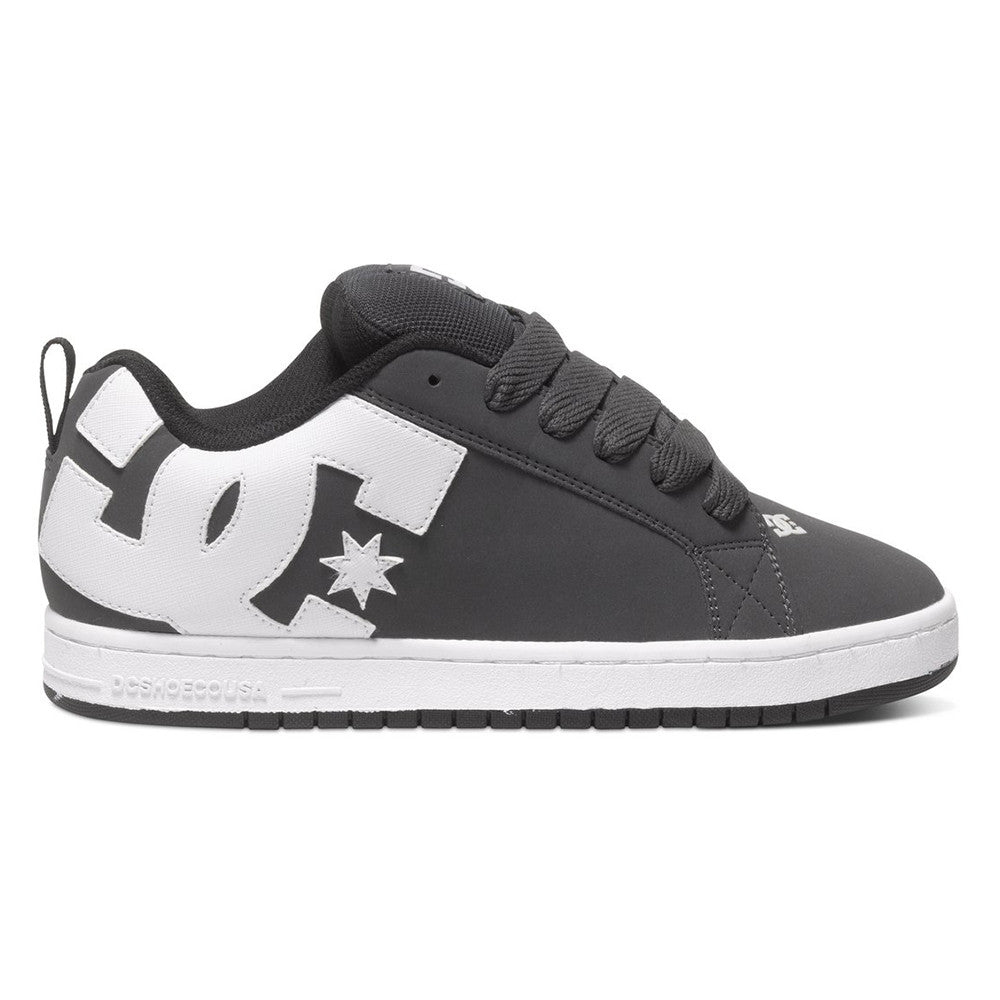 DC Court Graffik Men's Skateboard Shoes - Grey/White GRW
