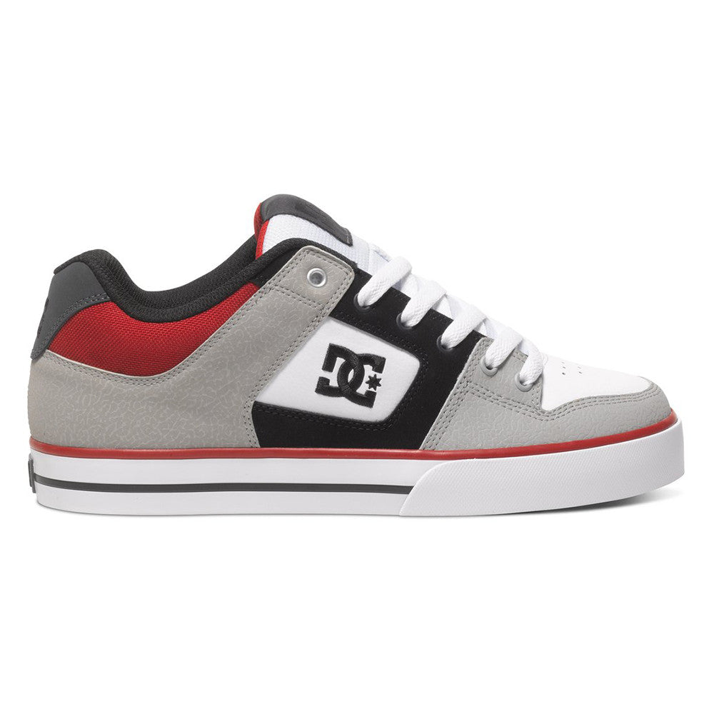 DC Pure Men's Skateboard Shoes - Grey/Black/Red XSKR