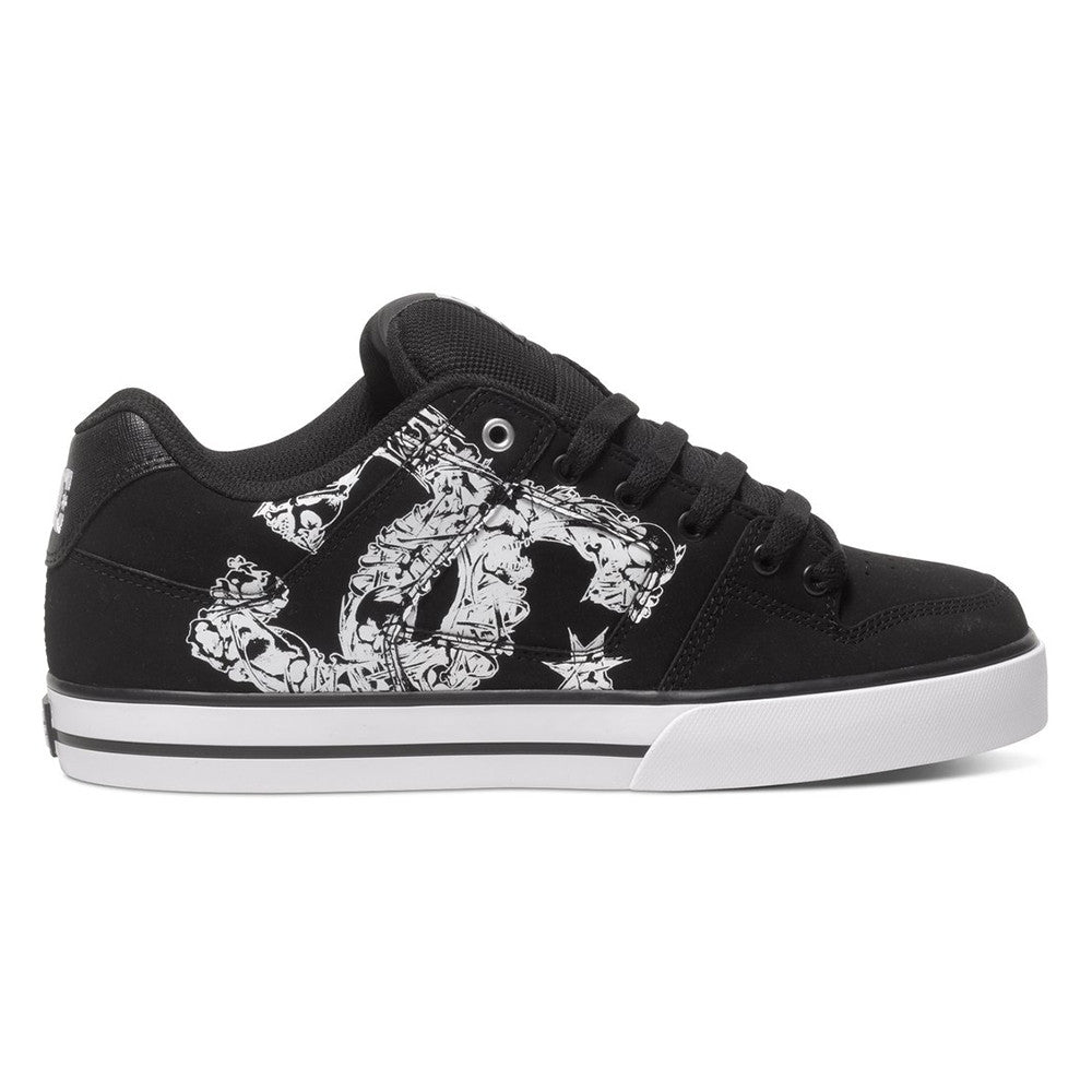 DC Pure SE Men's Skateboard Shoes - Black/Black/White XKKW