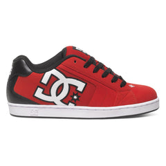 DC Net Men's Skateboard Shoes - Red/Black/White XRKW