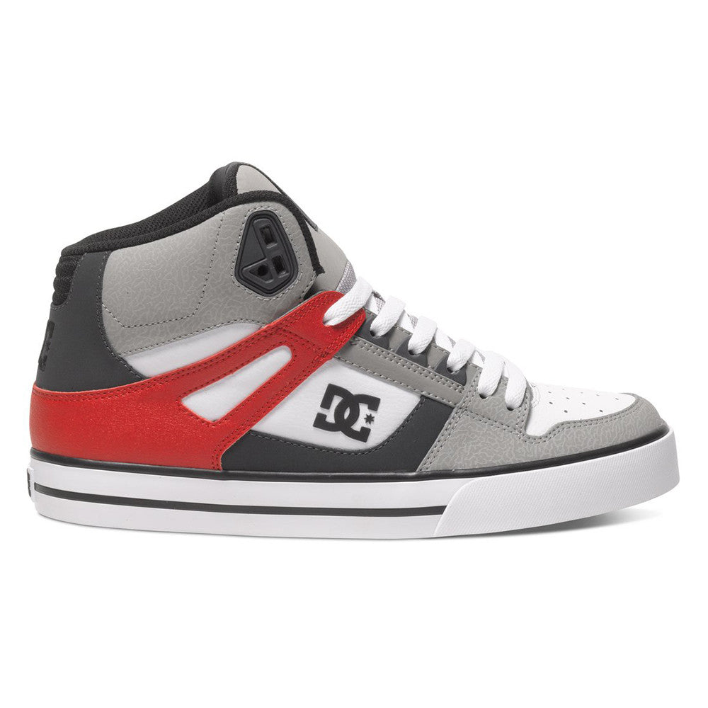 DC Spartan High WC Men's Skateboard Shoes - Grey/Red/White XSRW