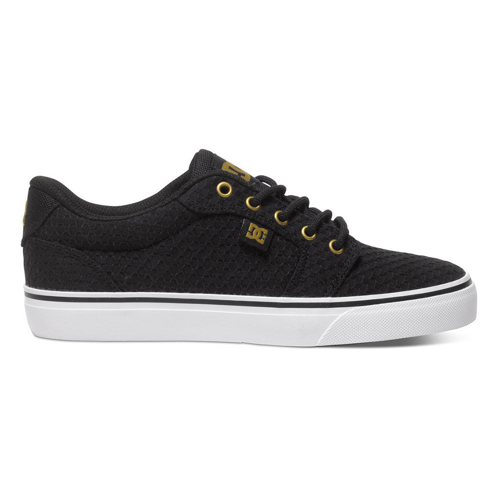 DC Anvil TX SE Women's Skateboard Shoes - Black/White/Gold KWG
