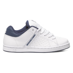 DC Wage Men's Skateboard Shoes - White/Navy WNY
