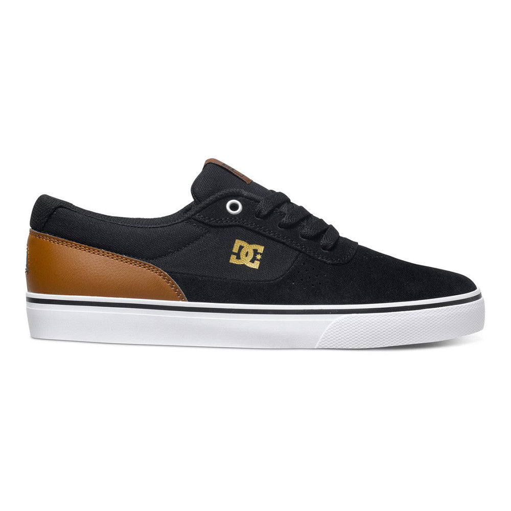 DC Switch S Men's Skateboard Shoes - Black/Brown/White XKCW