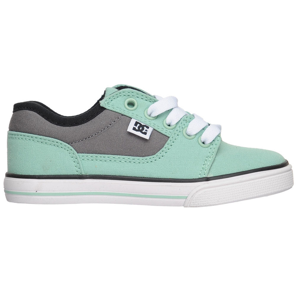 DC Bristol Canvas Youth Men's Skateboard Shoes - Mint (MNT)