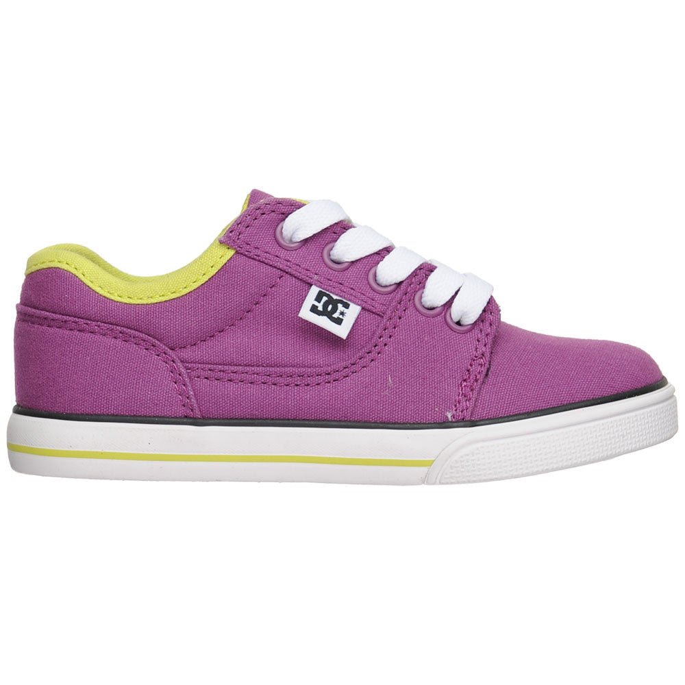DC Bristol Canvas Youth Men's Skateboard Shoes - Purple (PUR)