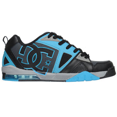 DC Cortex Men's Skateboard Shoes - Black/Battleship/Turquoise (BBQ)