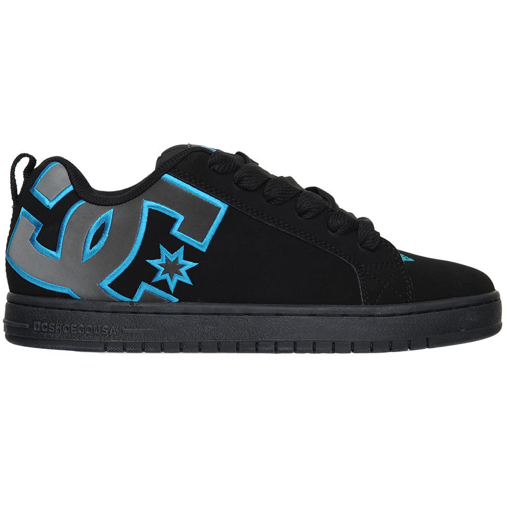 DC Court Graffik SE Men's Skateboard Shoes - Black/Turquoise/M Silver (KTM)