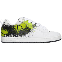 DC Court Graffik SE Men's Skateboard Shoes - White/Soft Lime/Black (1LB)