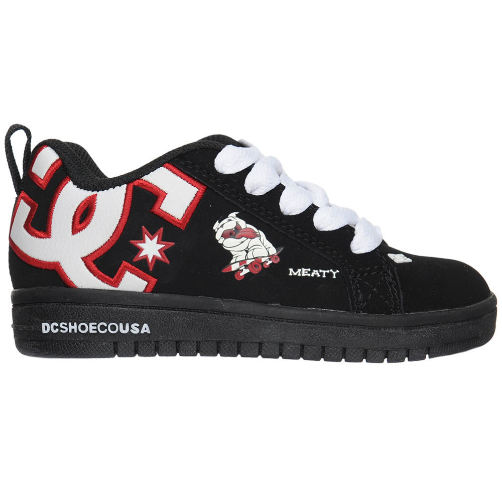 DC Court Graffik WG Youth Men's Skateboard Shoes - Black/True Red (BE1)