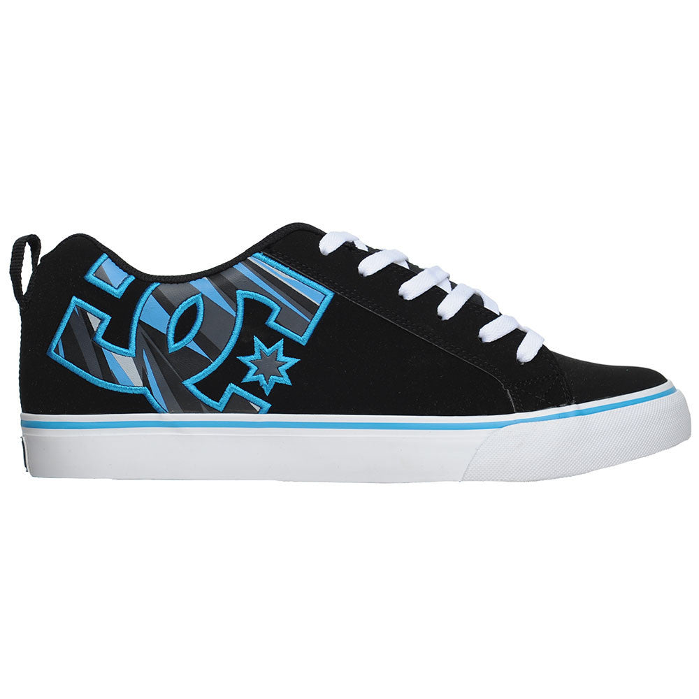DC Court Vulc SE Men's Skateboard Shoes - Black/Turquoise Print (BQT)