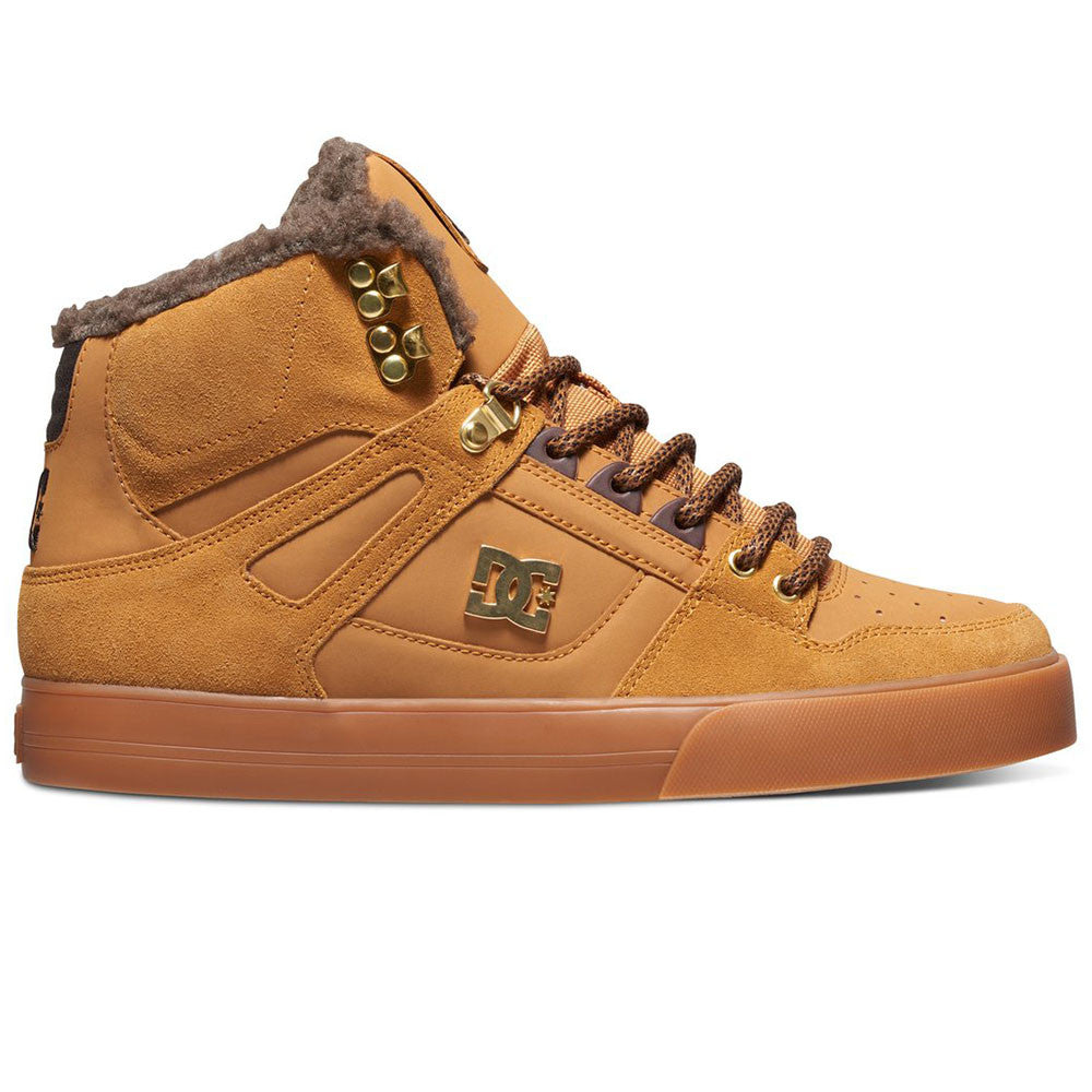 7c5684bbb1 DC Spartan WC WNT High-Top Men s Skateboard Shoes - Wheat Dark Chocolate (
