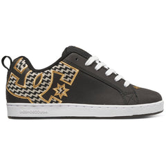 DC Court Graffik S Women's Skateboard Shoes - Black/Gold (BG3)