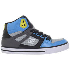 DC Spartan High WC Men's Skateboard Shoes - Black/Armor/Turquoise (KRQ)