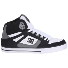 DC Spartan High WC Men's Skateboard Shoes -Black/Grey/White (XKSW)