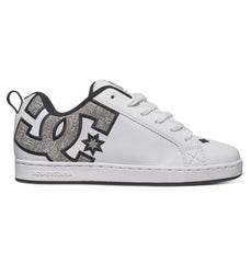 DC Court Graffik SE Skateboard Shoes - White/Charcoal (WC5) - Women's Skateboard Shoes