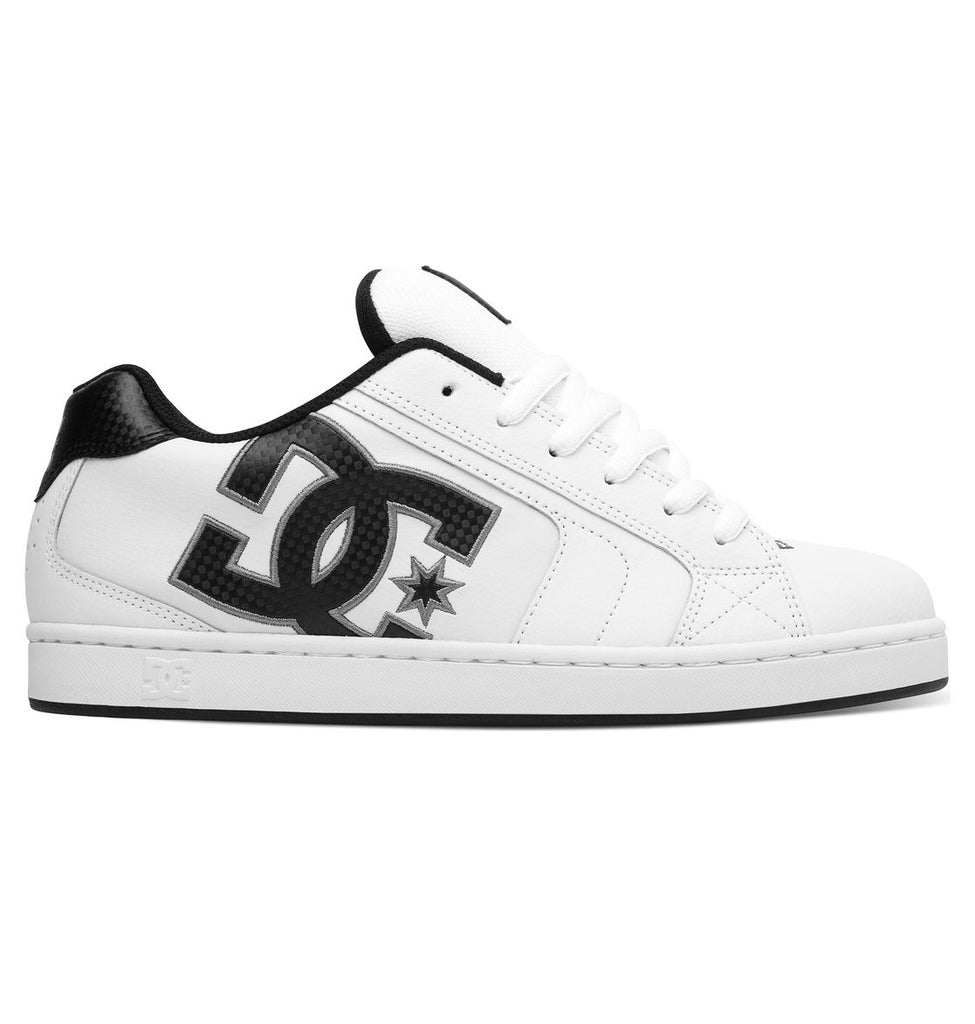DC Net Skateboard Shoes - White/Battle Ship/White (HBW)