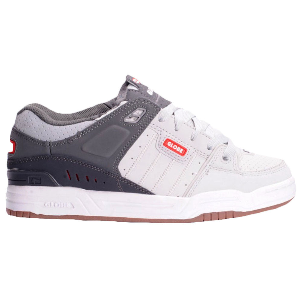 Globe Fusion Skateboard Shoes - Grey/Charcoal/Red