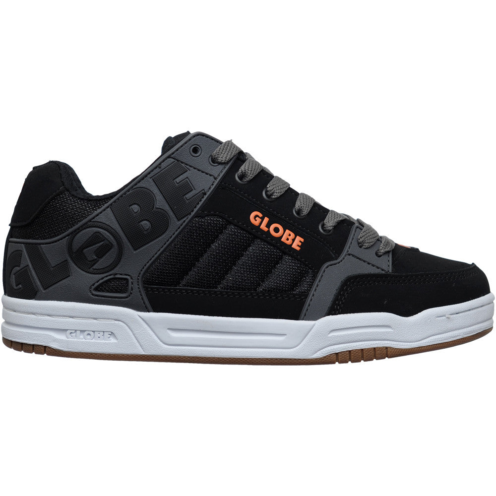 Globe Tilt Skateboard Shoes - Black/Charcoal/Orange