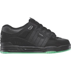 Globe Fusion Skateboard Shoes - Black/Black/Green