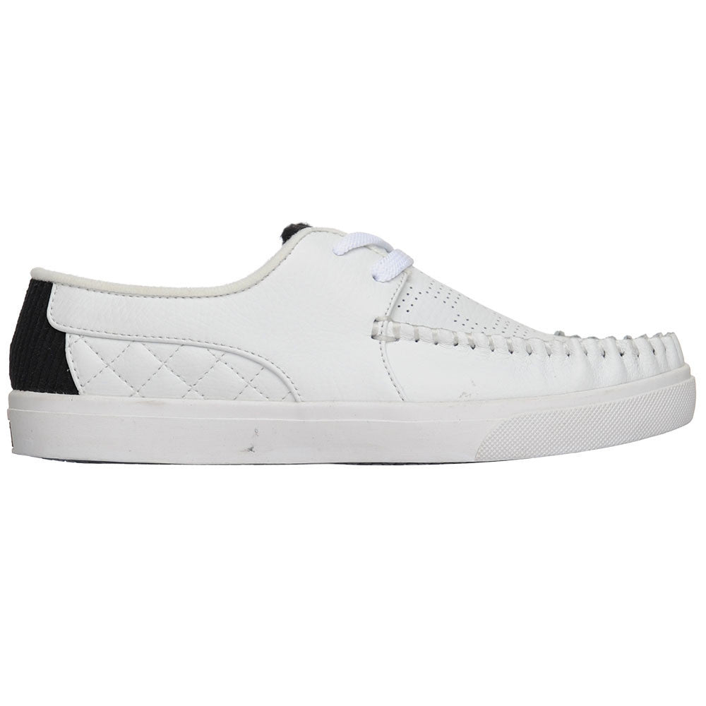 Globe Castro United Men's Skateboard Shoes - White/White/Black