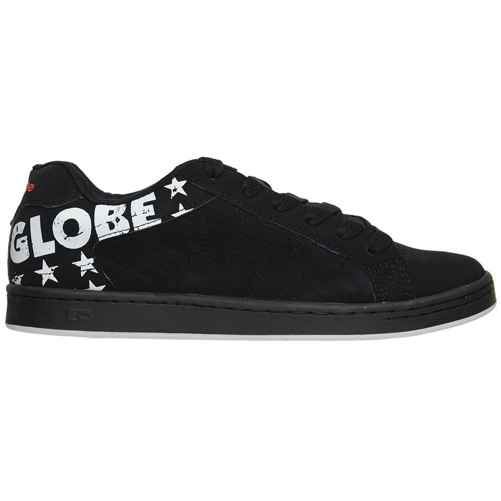 Globe Focus Men's Skateboard Shoes - Black/White/Stars