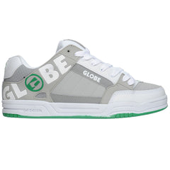 Globe Tilt Men's Skateboard Shoes - White/Grey/Green TPR