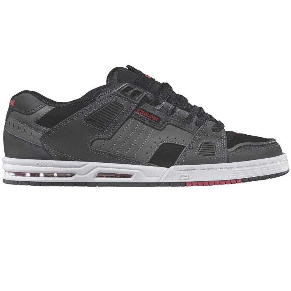 Globe Sabre Skateboard Shoes - Grey/Black/Red