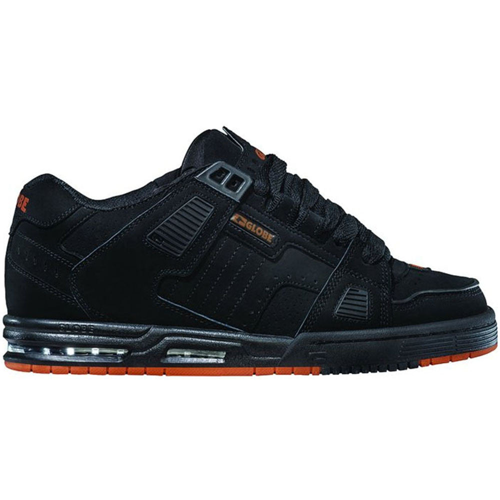 Globe Sabre Skateboard Shoes - Black/Black/Orange